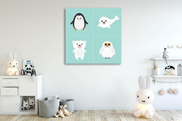 Artic Polar Animal Canvas Prints