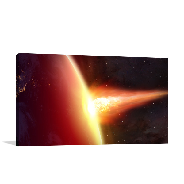 Asteroid Attack Wall Art