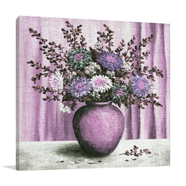 Asters Bouquet Art Prints