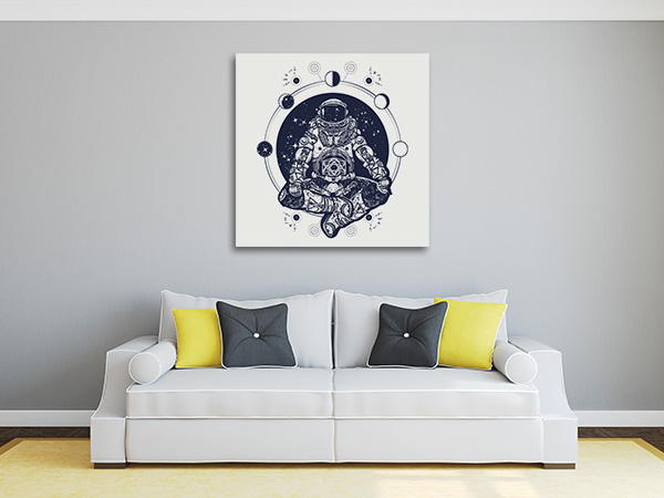 Astronaut in Lotus Wall Art
