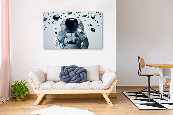 Astronaut In Outer Space Wall Art