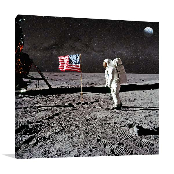Astronaut On Lunar Canvas Art Prints