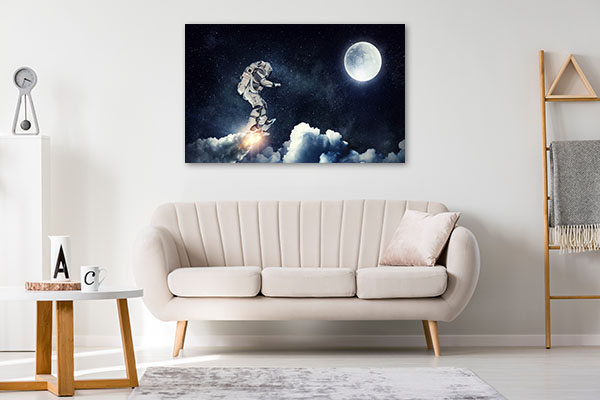 Astronaut Surfing Canvas Prints
