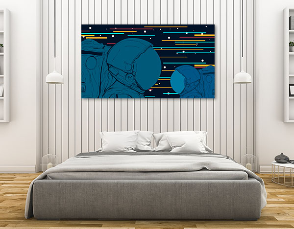 Astronauts Vector Canvas Art Prints