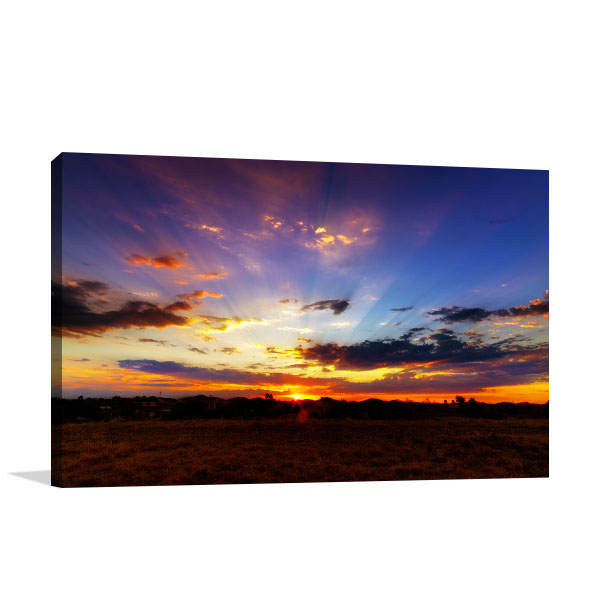 Aussie Outback Sunset Print Artwork