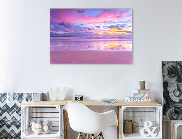 Australia Art Print Cotton Candy Sunrise Beach Canvas Prints
