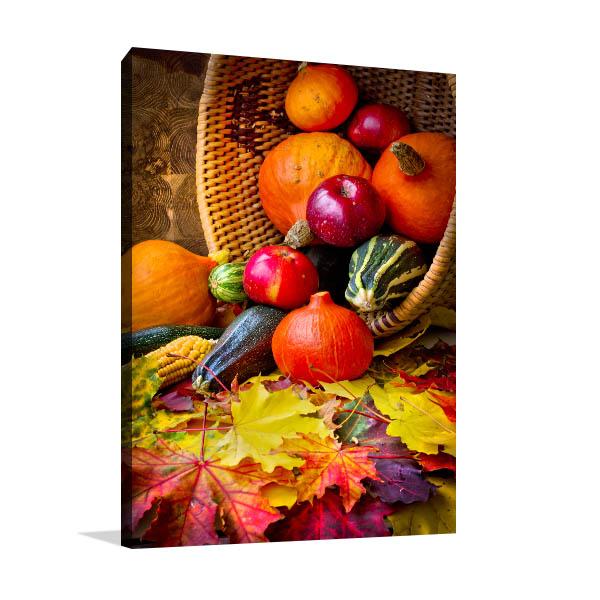 Autumn Fruits Canvas Art Prints