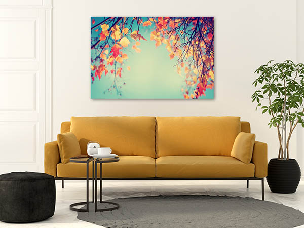 Autumn Leaves In Vintage Canvas Prints