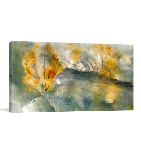 Autumn Pond Prints Canvas