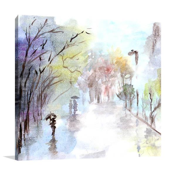Autumn Rain Art Prints