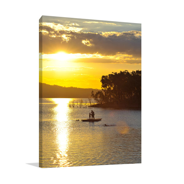 Awoonga Dam Gladstone Canvas Art