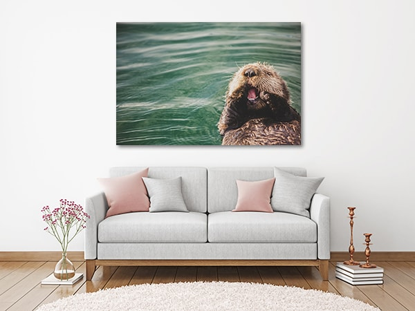 Baby Otter Canvas Art Print Artwork