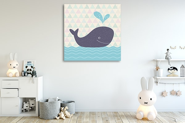 Baby Whale Canvas Art