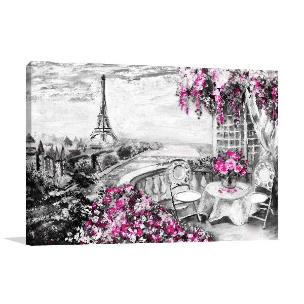 Balcony View of Paris in Canvas Art