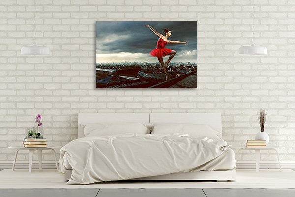 Ballerina in Red Canvas Art