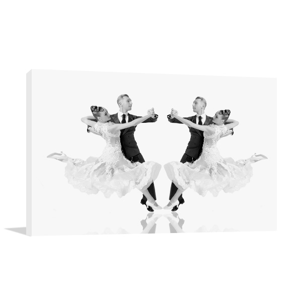 Ballroom Dance Couple Print Artwork