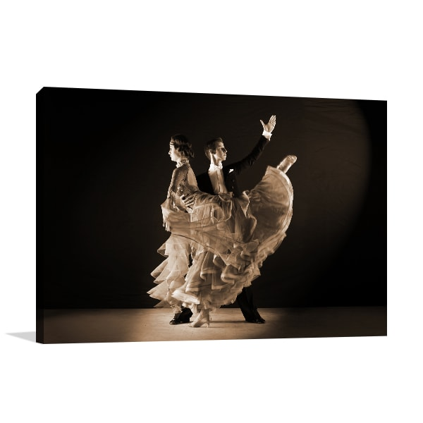 Ballroom Dancer Canvas Art