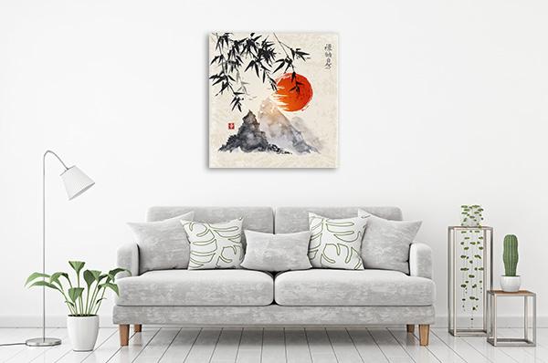 Bamboo and Fuji Artwork