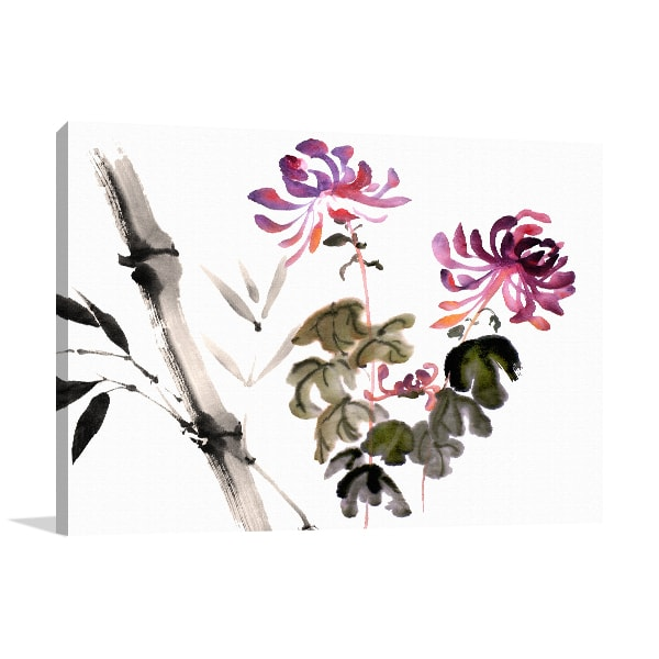 Bamboo Bloom Prints Canvas