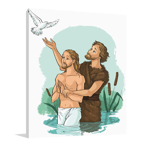 Baptism Of Jesus Christ Print Artwork