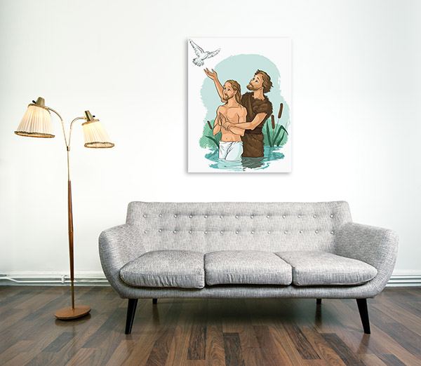 Baptism Of Jesus Christ Canvas Prints