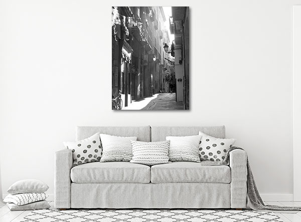 Barcelona Side Street Canvas Prints