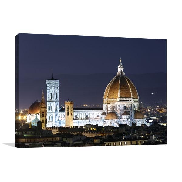 Basilica At Night Wall Art