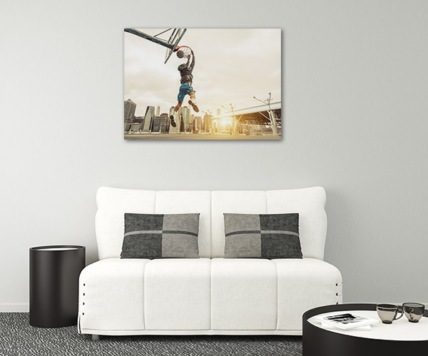 Basketball Street Player Prints Canvas