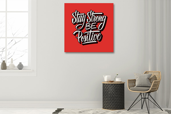 Be Positive Wall Art