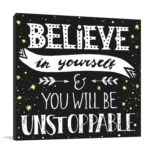 Be Unstoppable Canvas Art