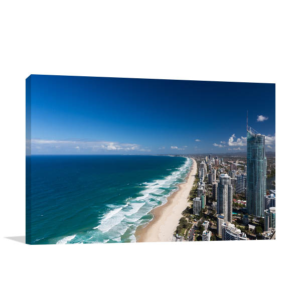 Beach and Skyscrapers Gold Coast Art Prints