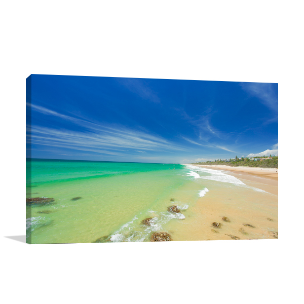 Beach Australia Sunshine Coast Canvas Art