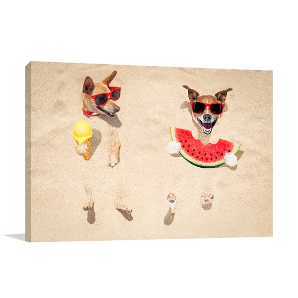 Beach Buddies Prints Canvas