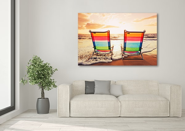 Beach Chairs Canvas Art Print