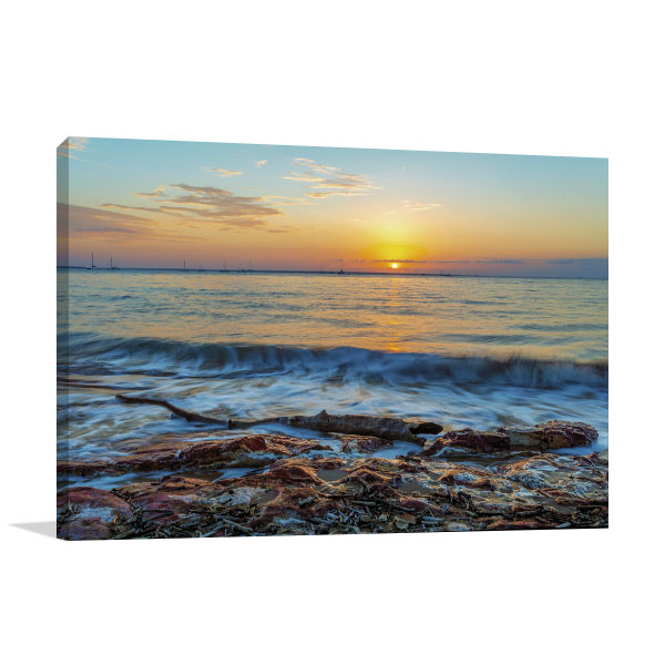 Beach Dawn Darwin Canvas Art Prints