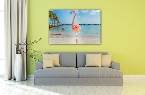 Beach Flamingos Wall Art Print Art Prints