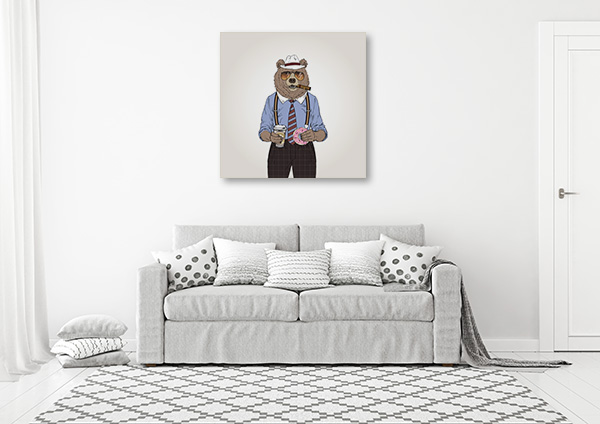 Bear Investigator Print Artwork