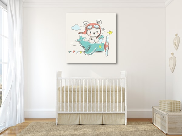 Bear On Board Canvas Prints
