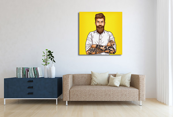 Bearded Man Wall Art