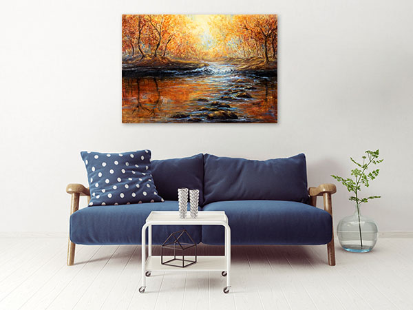 Beautiful Autumn Forest Prints Canvas