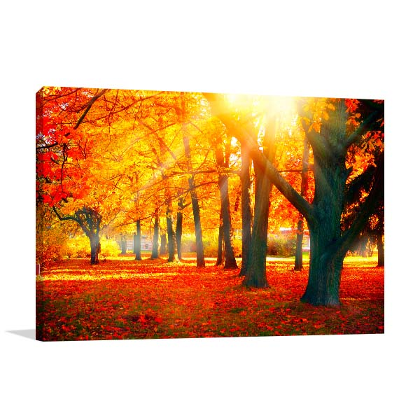 Beautiful Autumnal Park Print Artwork