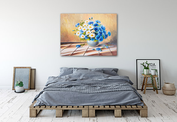 Beautiful Blue Daisies Canvas Prints