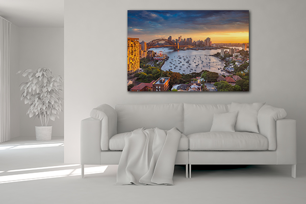 Beautiful Sunset Sydney Print Artwork