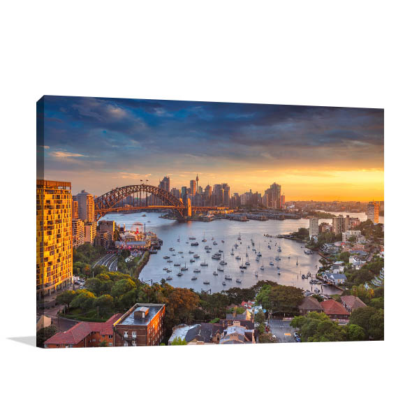 Beautiful Sunset Sydney Prints Canvas