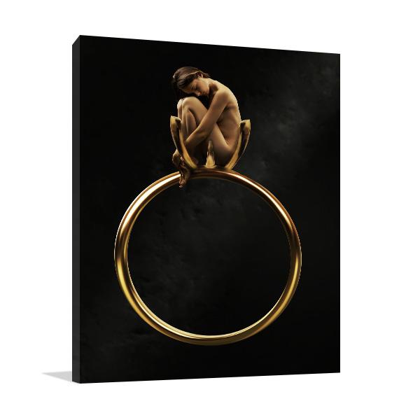 Beauty in Golden Ring Canvas Art