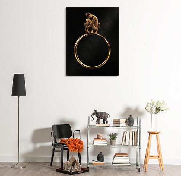 Beauty in Golden Ring Canvas Art Prints