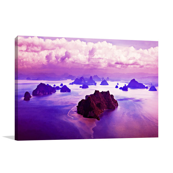 Beauty Islands Canvas Art