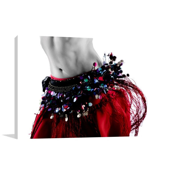 Belly Dance Costume Prints Canvas