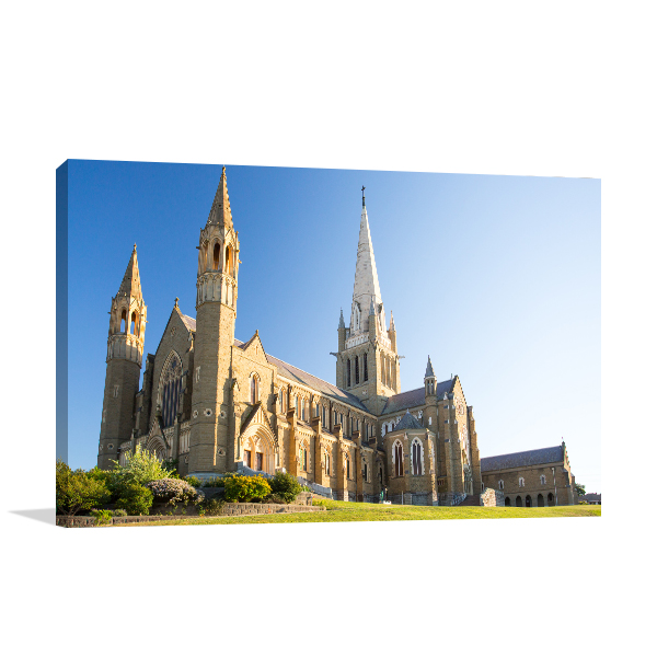 Bendigo Cathedral Spring Canvas Art Prints
