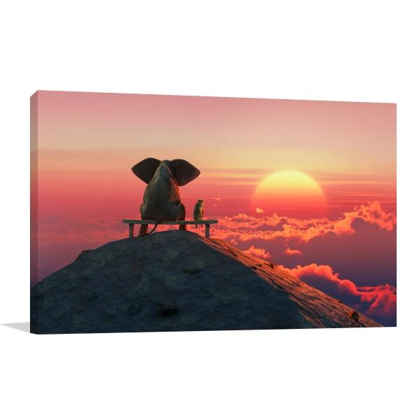 Best Friends Sunset Canvas Prints
